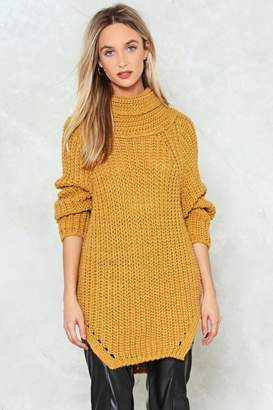 Nasty Gal Cowl Goes Knit Oversized Sweater