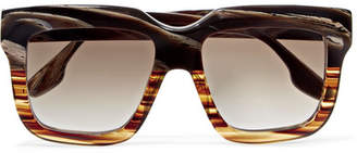 Victoria Beckham Oversized Square-frame Acetate Sunglasses - Brown