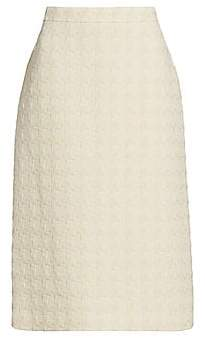 Gucci Women's Tweed Wool-Blend Pencil Midi Skirt