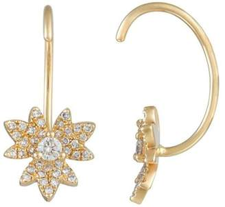 BRIGITTE & Stone Gold Leaves Earrings