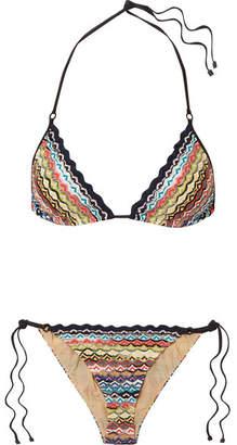 Missoni Mare Donna Crochet-knit Triangle Bikini - Black