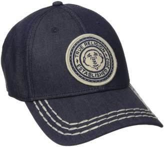 True Religion Men's Denim Ball Cap W/Patch
