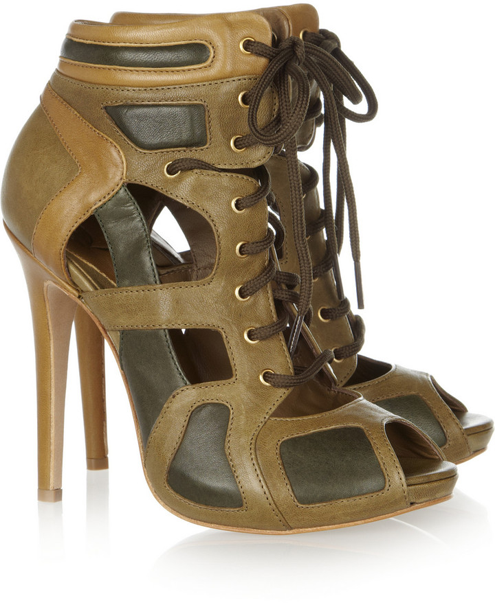McQ by Alexander McQueen Cutout leather ankle boots