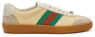 Gucci Jbg Leather And Suede Low Top Trainers - Mens - Multi