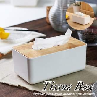 Generic Luxury Tissue Box Cover Paper Napkin Holder Plastic Case Home Bathroom Car Decor