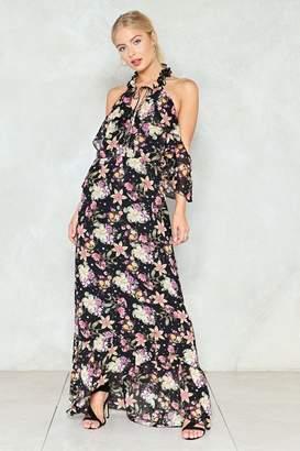 Nasty Gal Long Way Home Floral Dress
