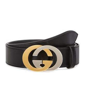 Gucci Men's Two-Tone GG Leather Belt