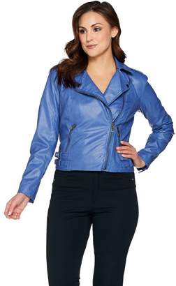 G.I.L.I. Got It Love It G.I.L.I Faux Leather Double Side Buckle Moto Jacket