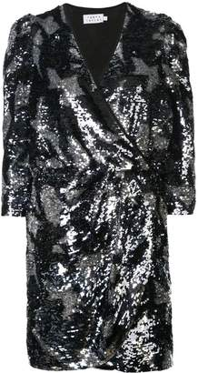 Tanya Taylor embellished wrap mini dress