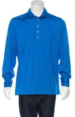 Cesare Attolini Long Sleeve Polo Shirt w/ Tags