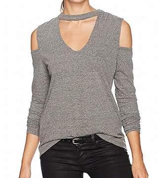 Pam & Gela Women's Long Sleeve Choker Tee