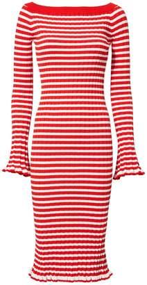 Caroline Constas Off Shoulder Ribbed Dress