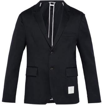 Thom Browne Single Breasted Cotton Blazer - Mens - Navy
