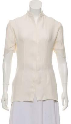 Cushnie et Ochs Silk Button-Up Blouse