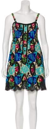 Anna Sui Silk Dress Blue Silk Dress