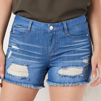 Women's LC Lauren Conrad Frayed Jean Shorts $45 thestylecure.com