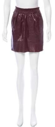 Karen Walker Leather Mini Skirt