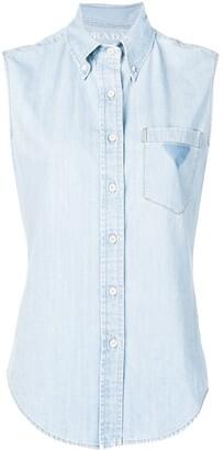Prada sleeveless denim shirt