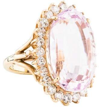 Ring 14K Kunzite & Diamond Cocktail
