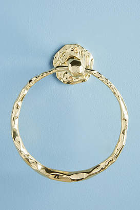 Anthropologie Forged Brass Towel Ring