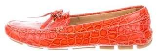 Prada Embossed Driving Loafers