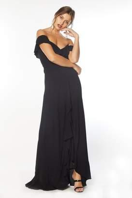 Flynn Skye Monica Maxi Dress - Black Rayon