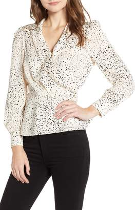 Cupcakes And Cashmere Spatter Dot Surplice Blouse
