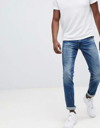 Replay Anbass slim stretch jeans in light wash