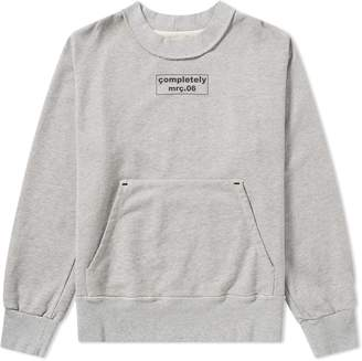 Mr. Completely Front & Back Box Logo Crew Sweat