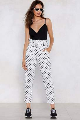 Nasty Gal Dot to Go Polka Dot Pants