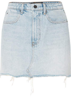Alexander Wang Distressed Denim Mini Skirt - Light denim