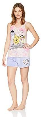 Disney Women's Winnie The Pooh 2-Piece Pajama Tank/Short Set