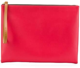 Marni block colour leather pouch