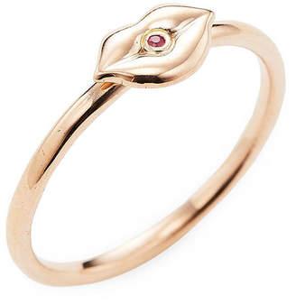 Sydney Evan Rose Gold Lips Ring