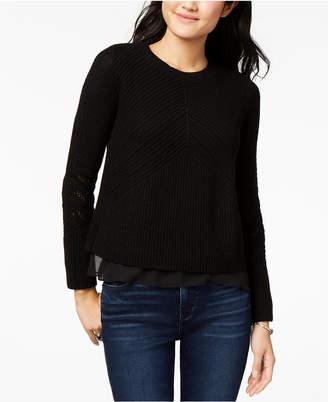 Lucky Brand Nico Chiffon-Hem Sweater