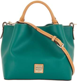 Dooney & Bourke Smooth Leather Small Brenna Satchel Handbag