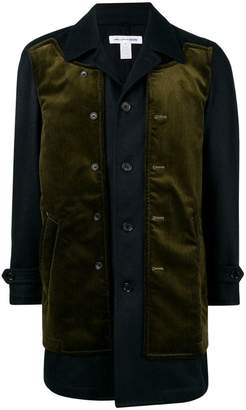 Comme des Garcons layered single-breasted coat