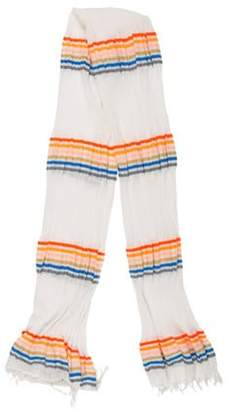 Lemlem Fringed Striped Scarf multicolor Fringed Striped Scarf