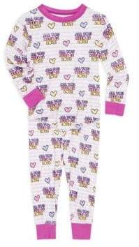 Rowdy Sprout Baby Girl's, Little Girl's& Girl's All You Need Is Love Two-Piece Pajamas