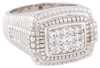Judith Ripka White Sapphire Cocktail Ring