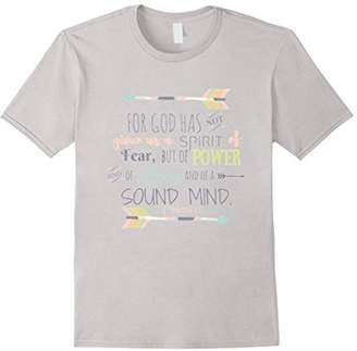 Christian Bible Verse Quote T-Shirt - 2 TIMOTHY 1:7