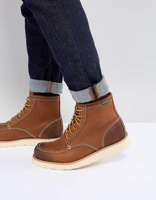 At Asos Eastland Lumber Up Leather Boots In Tan