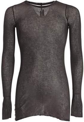 Rick Owens Long-sleeved Crew Neck T-shirt