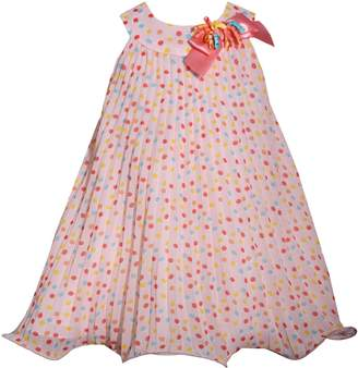 Bonnie Jean Baby Girl Dot Pleated Chiffon Dress
