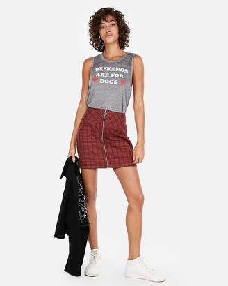 Express Weekends Are For Dogs Graphic Tank
