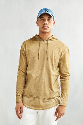 Washed Double Layer Hooded Long Sleeve Tee $54 thestylecure.com