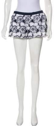 Alexis Embroidered Mini Shorts White Embroidered Mini Shorts