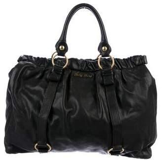 Miu Miu Oversize Leather Hobo