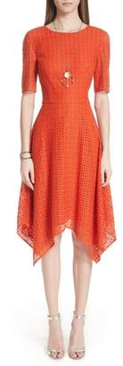 St. John Geo Coated Lace Dress