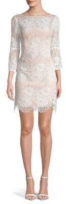 Vince Camuto Lace Cotton Blend Dress
